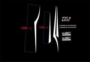 Image 5 - WRC العالم SUV الرياضة سباق السيارات ملصقات أسود أو أبيض اختياري مقاوم للماء الجانب شريط الشارات ملصقات