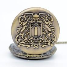 Новая Мода Бронзовый Hitman Reborn кварцевые карманные часы Аналоговые в виде кулона ожерелье мужские женские часы подарок