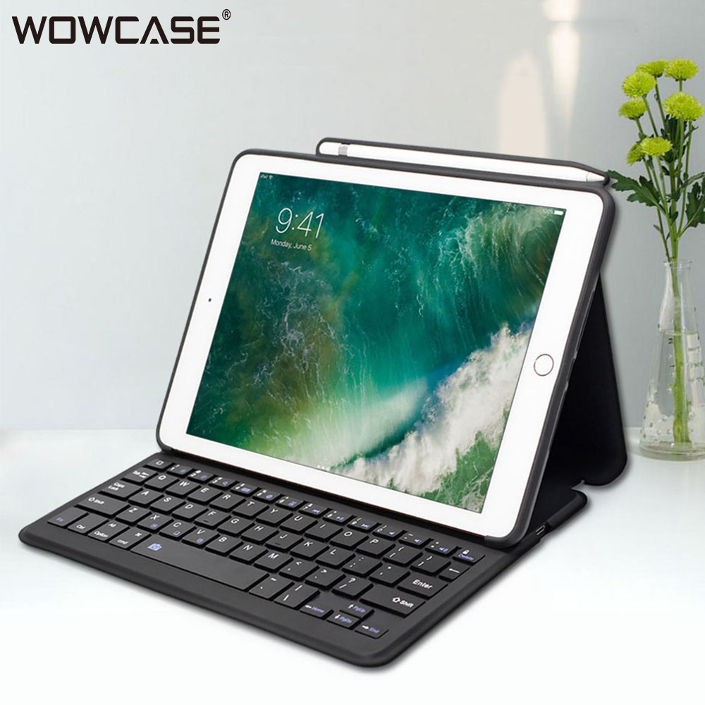For iPad 2018 Case Keyboard 9 7 11 12 9 inch Cases with Pencil Holder Stand