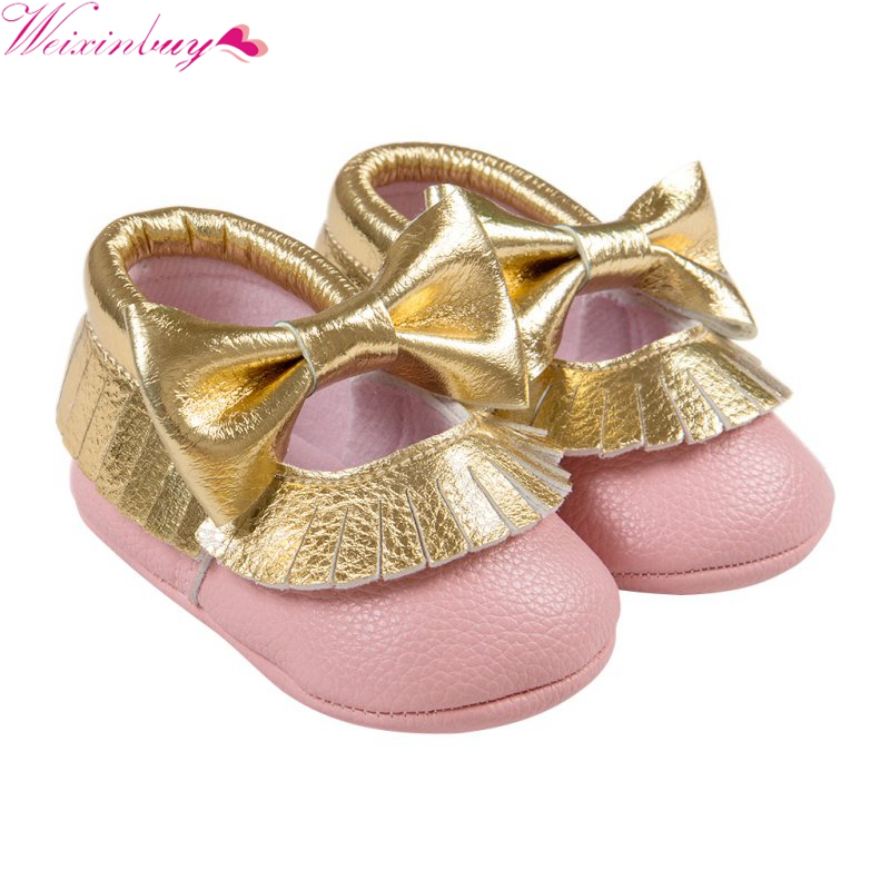 Cute Soft Soled Shoes Kids Baby Boys Girls Toddler Moccasin Infant Tassel Crib Shoes