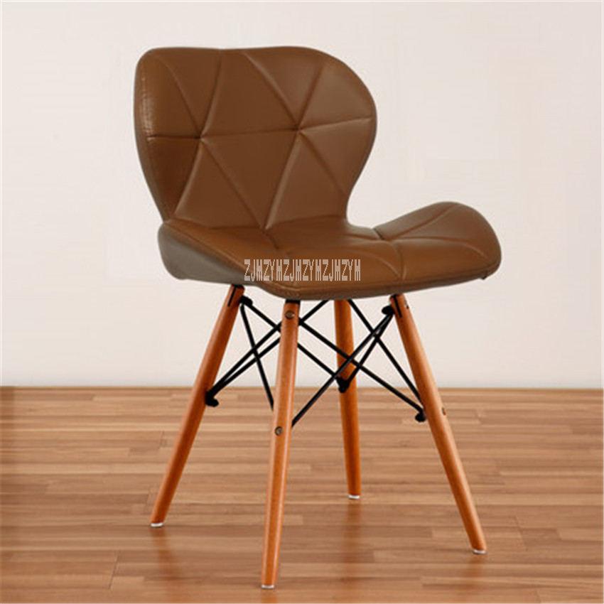 Деревянный стул для отдыха, современный креативный стул для гостиной, простой бытовой обеденный стул для кофе, офисное компьютерное кресло с спинкой - Цвет: I