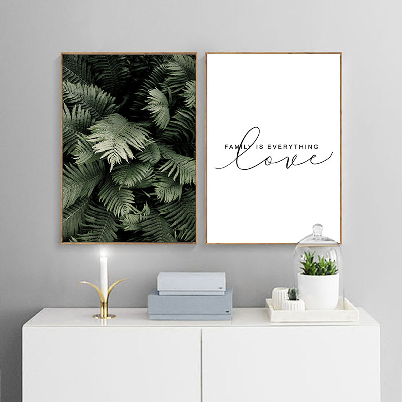 Green Plant Leaf Canvas Poster Quotes Print Scandinavian Style Painting Decorative Picture Modern Living Room Nordic Green Plant Leaf Canvas Poster Quotes Print Scandinavian Style Painting Decorative Picture Modern Living Room Nordic Decoration