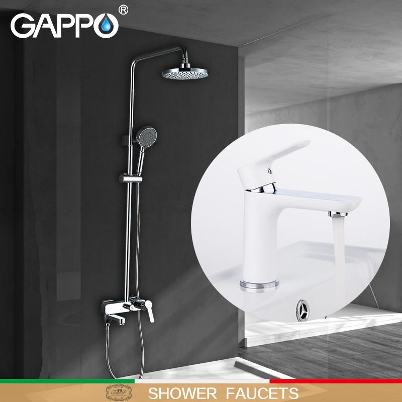 GAPPO Shower Faucets bath taps shower mixer tap waterfall basin faucets water sink mixer shower system Sanitary Ware Suite