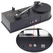 Mini Phonograph Vinyl Turntable Record Player 33/45RPM LP to MP3 WAV Converter RCA Output, USB to PC, USB Powered Plug&Play
