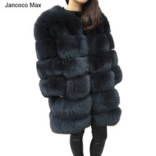 Winter Thick Warm Real Fox Fur Coat Top Quality Genuine Women Outerwear Fashion Style Jacket S7239