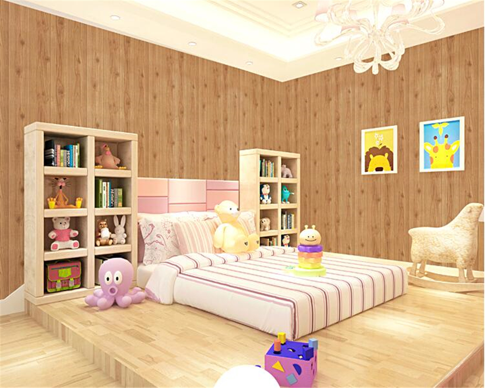 Beibehang American 3d Wallpaper Bedroom Ceiling Chinese Living Room Clothing Store Stereoscopic Wooden Papel De Parede Wallpaper