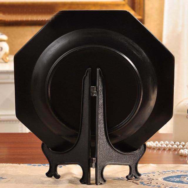 6\  H Black Decorative Plate Rack Crafts Display Easel Bracket Dish Support Holder x5 & Online Shop 6\