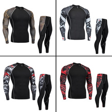 New Men's Thermal underwear Base layer thermal Tracksuit Warm Men's Winter Sports Compression Sports