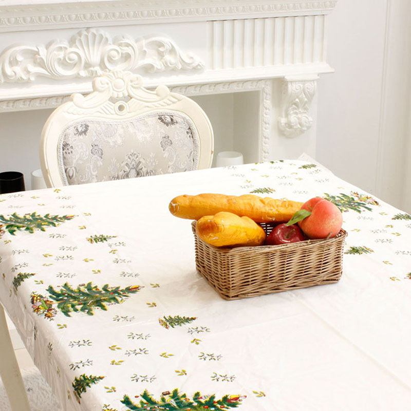 Kitchen Table Decorations For Christmas: New Year Christmas Tablecloth Kitchen Dining Table Decor
