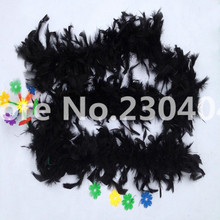 Beautiful black 2 meters long (38-40 grams) decoration feather garment accessories wedding DIY fire feather fire tablets