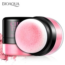 BIOAQUA 3 Colors High Quality Blusher Powder Women Blush Girls  Pure Mineral Face Cheek Soft Natural Cosmetic With Sponge