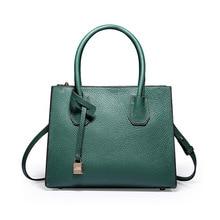 New Fashion Genuine Leather Bags Handbags Women Famous Brands Big Casual Women Bags Trunk Tote Shoulder Bag Ladies high quality стоимость
