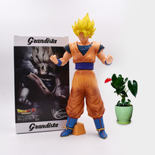 dragon ball z resolution of soldiers vol 1 son gokou vol 2 vegeta pvc collectible model 20 21cm kt3949 Anime Dragon Ball Z Grandista ROS Resolution of Soldier Son Goku PVC Action Figure Doll Collectible Model Toy Christmas Gift