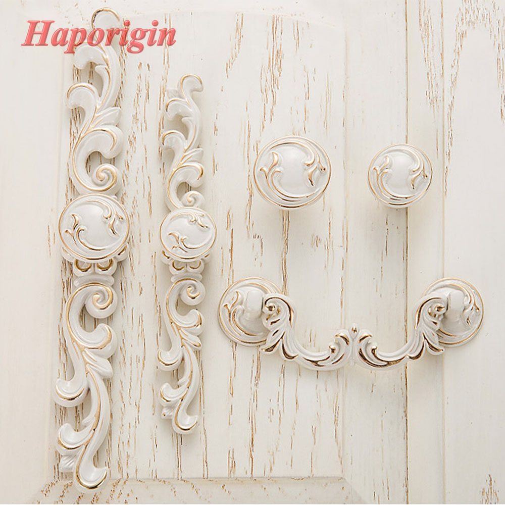 Antique Cabinet Handle Euro-Style Furniture Knobs Creative Cupboard Closet Drawer Handle Vintage Pulls Bars Hardware Knobs 96mm cabinet handles palace euro style furniture ivory with 24k golden knobs closet door handle drawer pulls bars