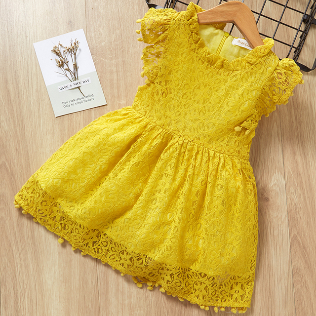 5ec152889874c US $8.19 30% OFF|Girls Dress 2019 New Style Summer Kids Bright color Cute  Lace Dress Children Sleeveless Princess Dress Children Clothes Dresses-in  ...