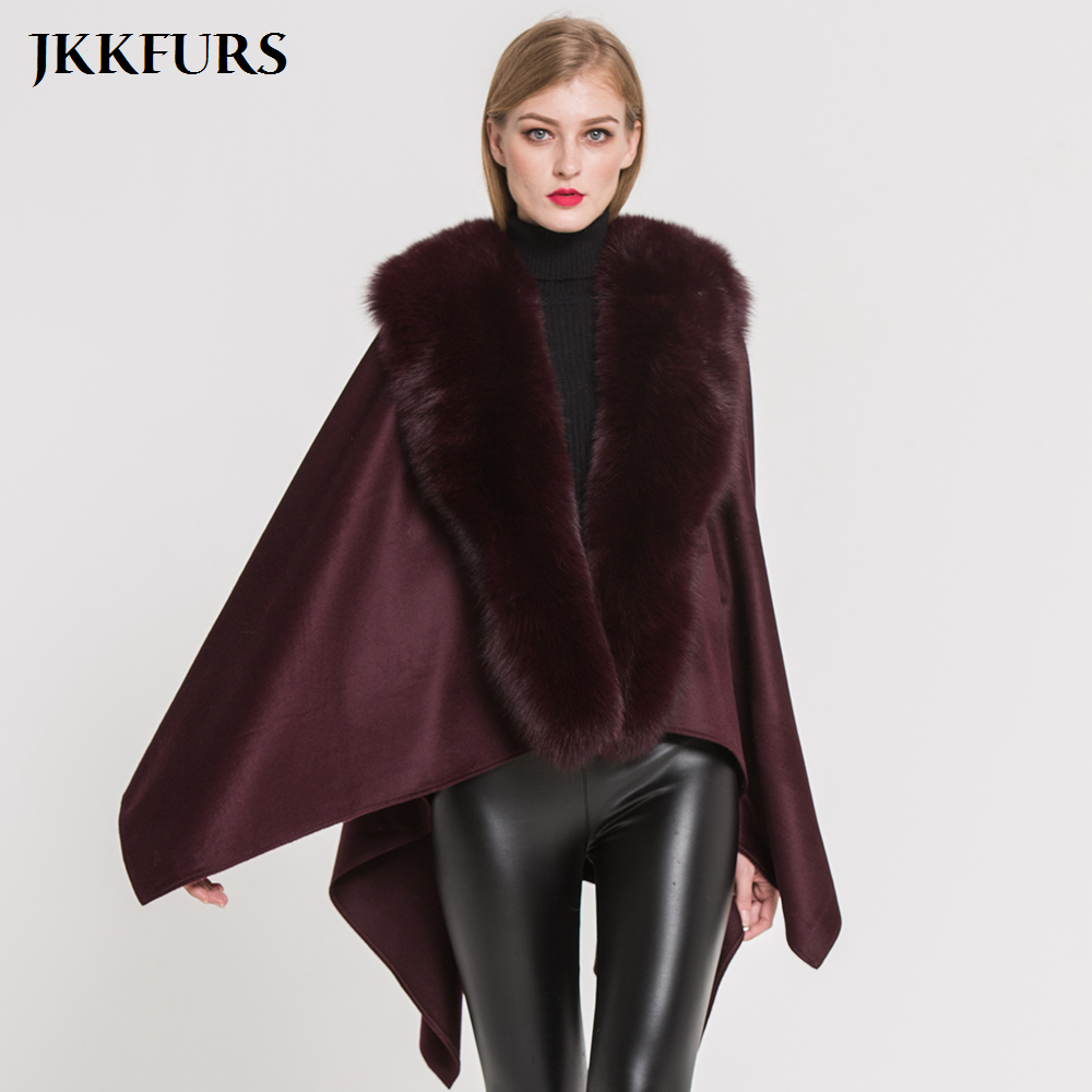 New fashion Womens Real Fox Fur short Coat Jacket Cape Wrap Poncho winter warm 5
