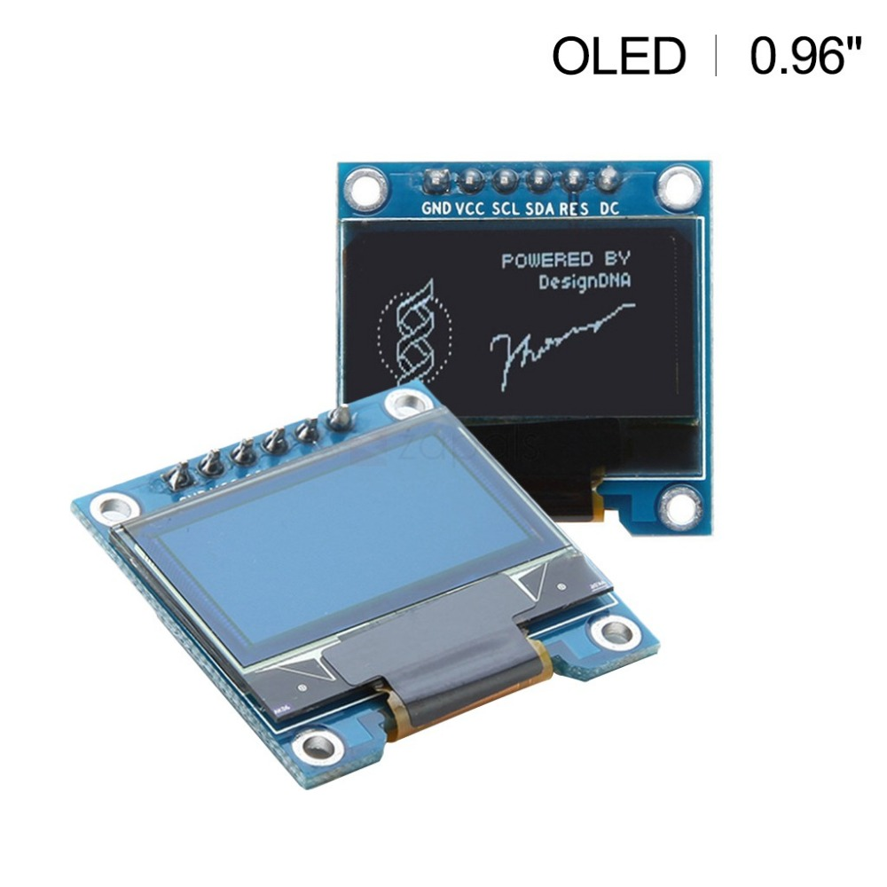 0.96 oled display module white 12864 LED screen 6 pin SPI IIC interface for arduino STM32 51 sd1306 driver NEW diy OLED display
