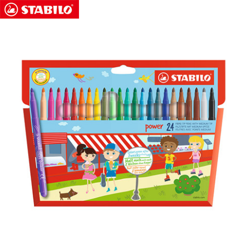 Stabilo 280 Watercolor Pen Multicolored Set Environmental Painting Pen Brightly Colorful Easy To Clean