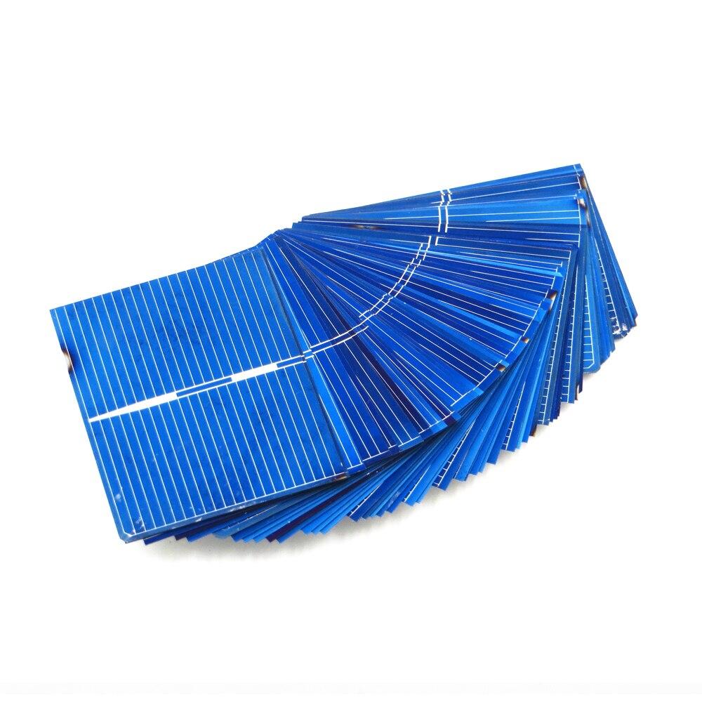 50 Uds x Panel Solar Painel células DIY cargador de silicio policristalino de Sunpower La energía Solar Bord * 52*39mm 0,5 V 0,33 W