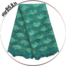 WorthSJLH Latest Guipure Lace For Wedding Aso Ebi Water Soluble African Fabric Green Gray Nigerian Swiss 2018