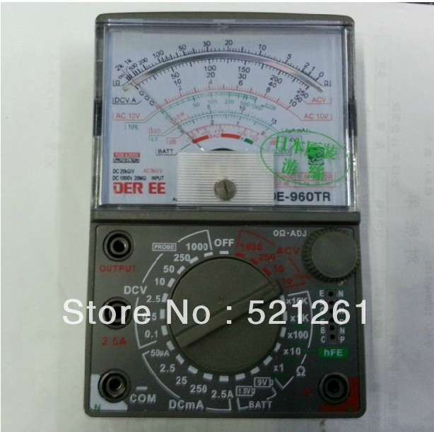 цены  Analog multimeter de-960tr  AC DC Volt Ohm  current Testing Electrical Multitester de-960tr meter