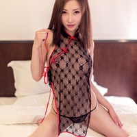 Selebritee Sexy Lingerie Hot Women Lace Transparent Intimate Sleepwear Porn Fishnet Underwear Mini Dress With G