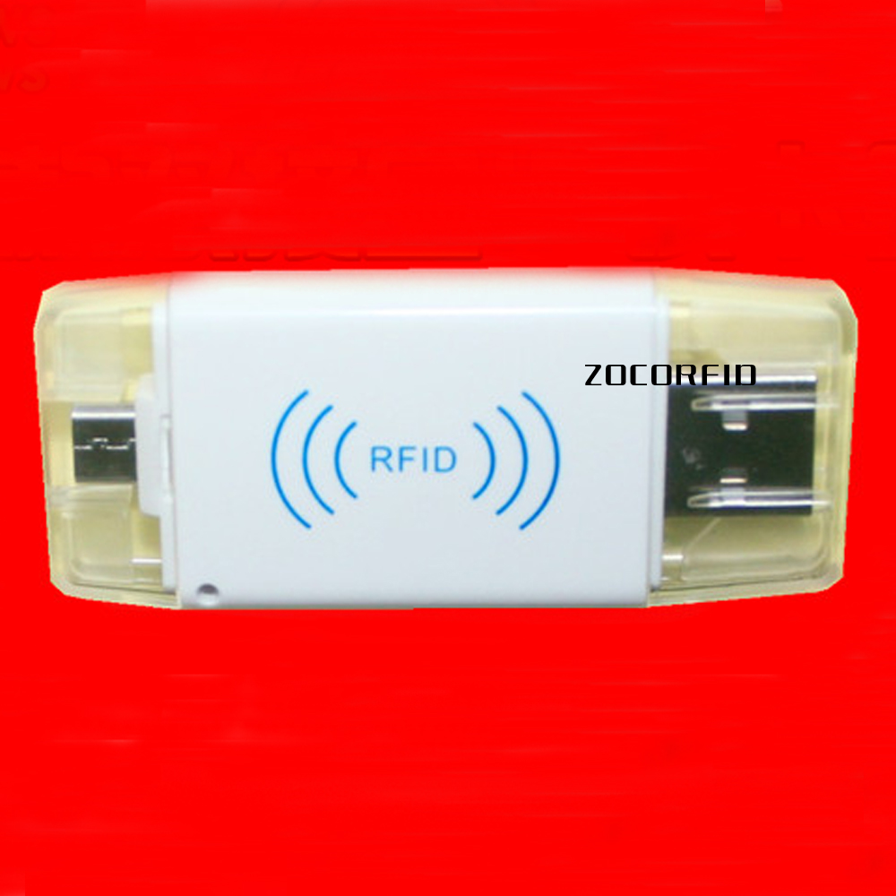 Free shipping app system 125KHZ RFID electronic tags reader/MINI reader / for Android phone/paid APP system +10pcs cards