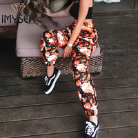 IMYSEN 2017 New Arrival Camouflage Print Casual Pants Summer Autumn Women Pants Loose Trousers Female Bottoms