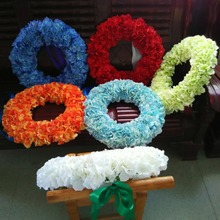 Wedding Decorative Flowers Wreaths,front Door Wreath 20 Inches,party  Birthday Decoration Flowers