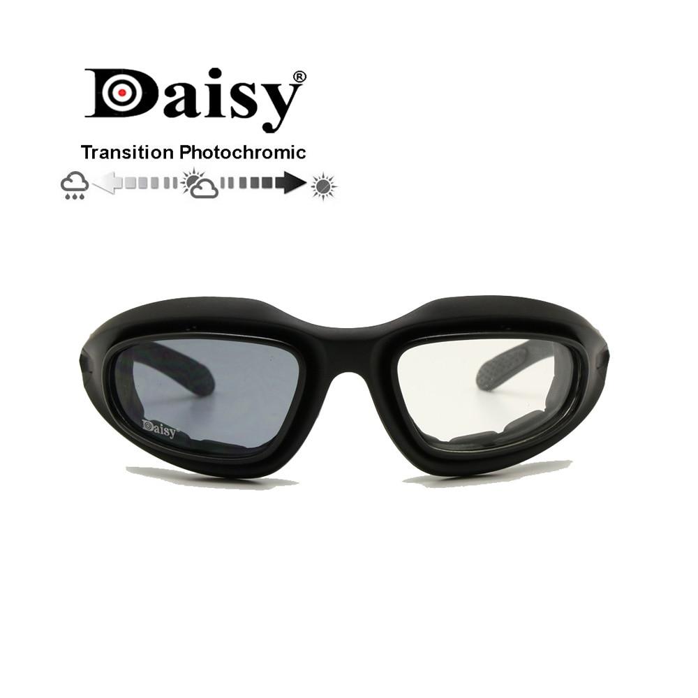 Óculos de proteção Daisy C5 militar polarizado 4 lentes, óculos de sol  militar, para a0a3372926