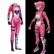 COSREA Fortress Night Blue Pink Grey Panda Bear Rose Cosplay Costume Mask Spandex