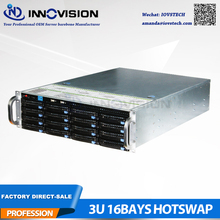 3U 650MM 16HDD hot plug server computer case 3u hotswap rack storage case