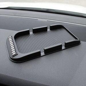Image 4 - Противоскользящий коврик для приборной панели автомобиля с номером мобильного телефона, силикагелевый автомобильный нескользящий коврик для бумажных полотенец, GPS телефона, автомобильные аксессуары