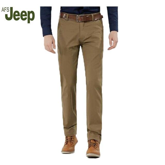 2016 Бренд мужской бизнес брюки хлопок прямо Battlefield Jeep Мода досуг мужская высокого класса мужские брюки 103