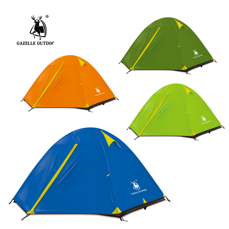 Gazelle Lightweight 2 3 Person Tent Waterproof 4 Season Tent Camping Hiking Tent high quality outdoor 2 person camping tent double layer aluminum rod ultralight tent with snow skirt oneroad windsnow 2 plus