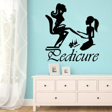 Fun beauty salon Vinyl Waterproof Wall Stickers Decor For Bedroom Beauty Salon Decoration Decal Murals