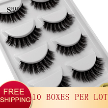 SHIDISHANGPIN 10 boxes wholesale false eyelashes natural long mink lashes 3d volume fake eyelashes hand made makeup lash G600