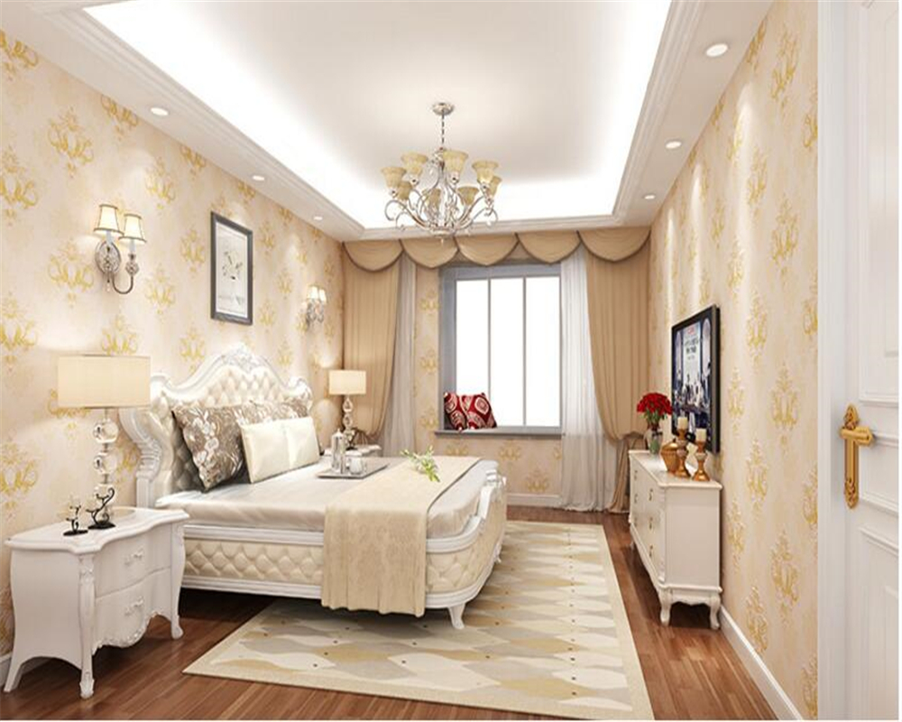 beibehang European-style three-dimensional wall paper 3D precision relief non-woven bedroom living room TV wall 3d wallpaper