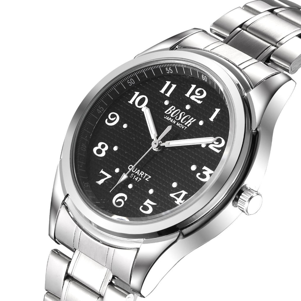 BOSCK 5147 hot style high end men s watches luxury stainless steel watch from the wrist