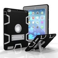 Cho apple ipad 2/3/4 retina kids bé an toàn armor chống sốc heavy duty silicone cứng case bìa cho ipad3 ipad4 fundas Coque