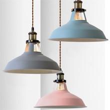 Modern Loft Iron Pendant Light LED Edison Industrial HangLamp Nordic Lamp For Dining Room Lights Antique Deco Home Lighting