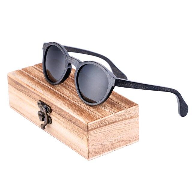 133f407861091 BerWer de rodada polarizada mulher óculos de sol homem óculos de sol com  caso de madeira