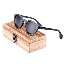 BerWer ronde polarisées femme lunettes de soleil homme Bambou en bois  lunettes de soleil avec étui en bois aca4014f2ca6