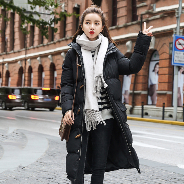 88187d90c0 chaqueta mujer puffer jacket Winter long jacket Women Snow wear fashion  thicken parkas female 2018 New warm coat overcoat S-XL