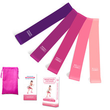 2019 Ombre Strength Resistance Bands Fitness Training Gum Pilates Sport Rubbers Bands Crossfit Workout Equipment 5 Color/Set