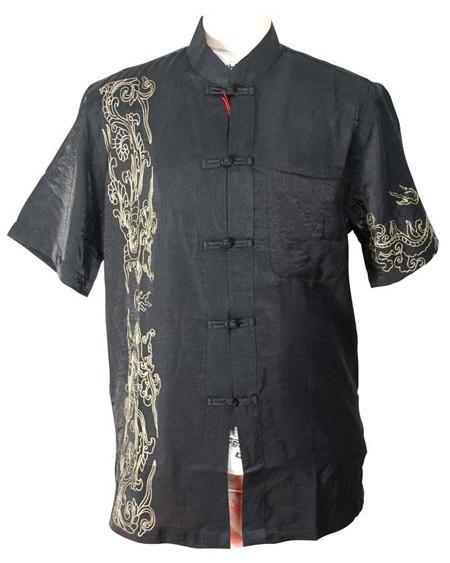 Clássico do Vintage Dos Homens Chineses Kung Fu Camisa Tai Chi Wu Shu Camisa Top Wing Chun Roupas Plus Size XXXL MS019