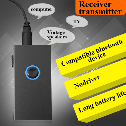 Levn BTI-010 Mini Portable 3.5mm audio Jack 2 In 1 Wireless bluetooth transmitter Receiver Audio transmitter Adapter For TV PC