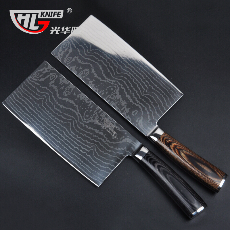 7Inch High Carbon Steel Asian Cleaver font b Knife b font Asian veggie kitchen meat choppign