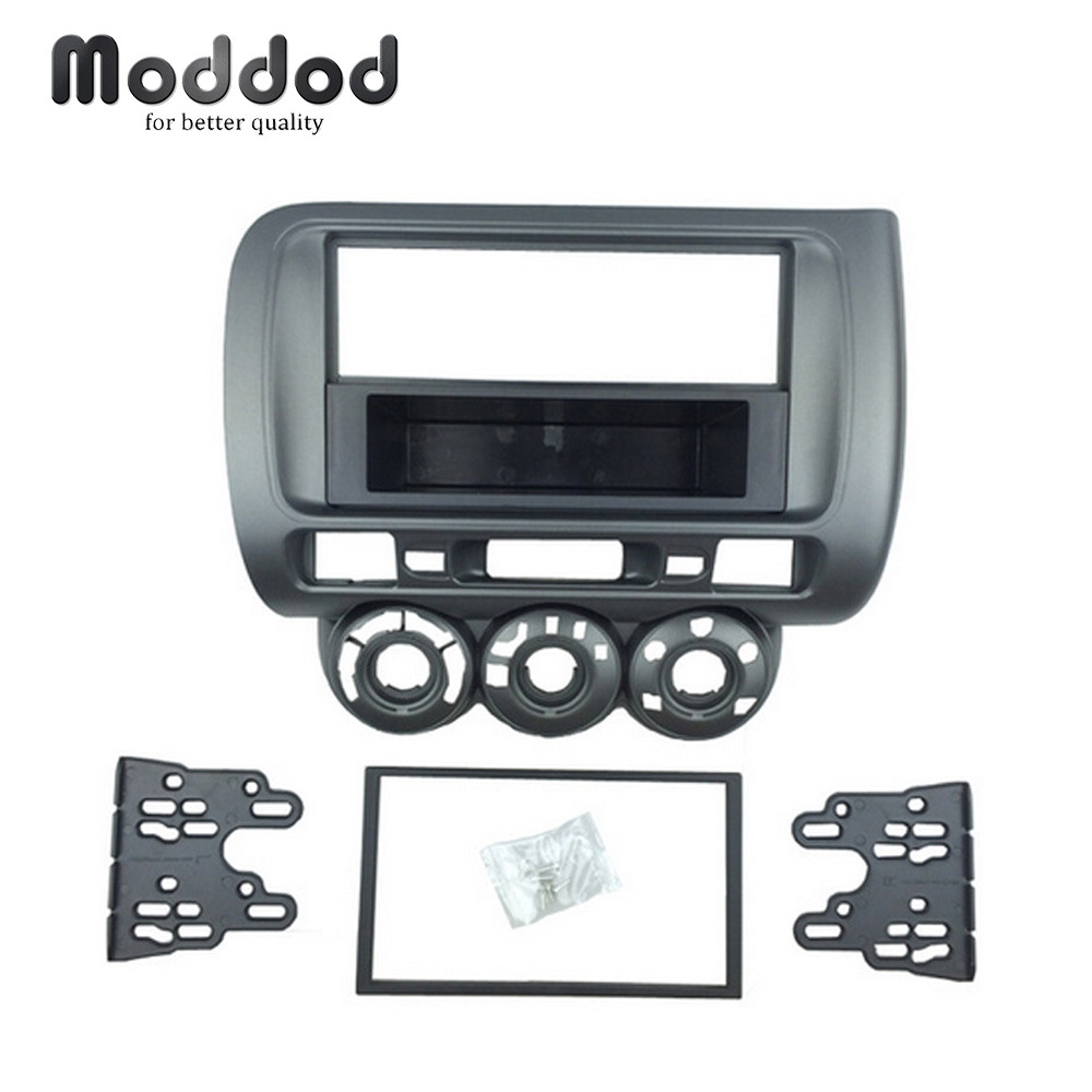 One Double Din Fascia for Honda Jazz City Radio DVD Stereo CD Panel Dash Mounting Installation