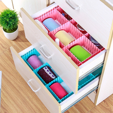 Spacer Storage Box for Drawer Plastic DIY Grid Drawer Divider Household Grid Sub-grid Plate Finishing Folding Clothing Organizer